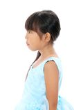 Profile of little asian girl. Studio photo of lovely little asian girl, side view Royalty Free Stock Photos