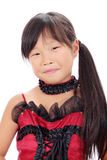 Profile of little asian girl Royalty Free Stock Images