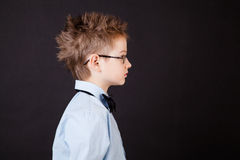 Profile of little boy Royalty Free Stock Images