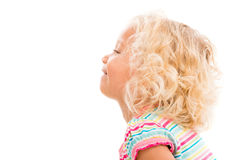 Profile of a little girl Stock Images