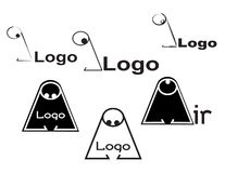 Profile logo. Big nose logo for studios or some product. editable Stock Photos