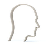 Profile male head Stock Images