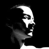 Profile man. Woodcut profile abstract of a man Royalty Free Stock Photos