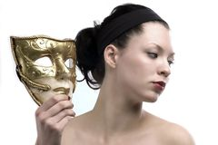 Profile and mask Stock Photography