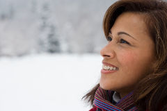 Profile of a mature woman Stock Image