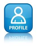 Profile (member icon) special cyan blue square button Stock Photo