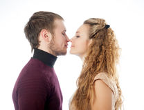 Profile of men and women Royalty Free Stock Images