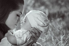 Profile of mother and son Royalty Free Stock Image