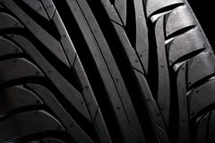 Profile of a new tyre Stock Image