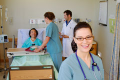 Profile of nurse from health team Stock Photography