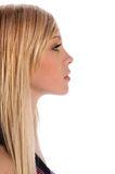Profile Of Young Woman Royalty Free Stock Image