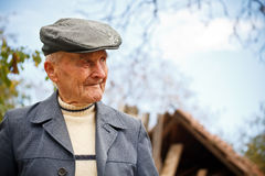 Profile of an old man Stock Images