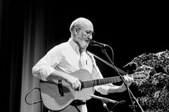 Profile of Paul Stookey. ST. PETERSBURG, FLORIDA - FEBRUARY 18, 2012: Paul Stookey, best known as Paul in the folk trio Peter, Paul and Mary, performs at The Stock Images