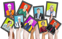 Profile of People with Various Occupations Royalty Free Stock Images