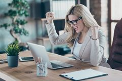 Free Profile Photo Of Beautiful Business Lady Looking Notebook Table Watching Online Report Celebrating Startup Success Stock Images - 163402414