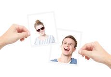 Profile photos Royalty Free Stock Photos
