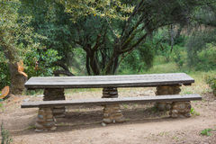 Profile of a Picnic Table Stock Photography