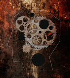 Head With Gears Royalty Free Stock Images