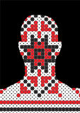 Profile picture - pixel traditional - head silhouette Royalty Free Stock Images
