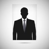 Profile picture whith tie. Unknown person Stock Image