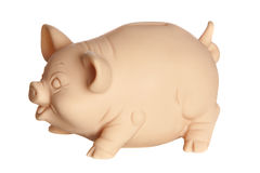 Profile of piggy bank Stock Image
