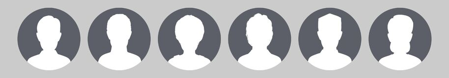 Free Profile Placeholder Image. Gray Silhouette No Photo Royalty Free Stock Photography - 176390777