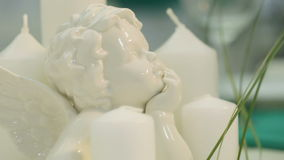 Profile porcelain angel Royalty Free Stock Images