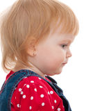 Profile portait of a thoughtful little girl Royalty Free Stock Photo