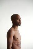 Profile portrait of an attractive black male model Stock Photo
