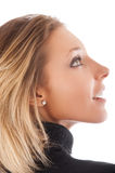 Profile portrait  of beautiful Royalty Free Stock Images
