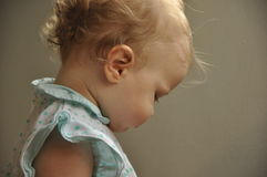 Profile portrait of beautiful baby girl Royalty Free Stock Photos