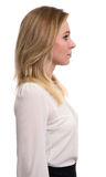 Profile portrait of a beautiful blonde woman Stock Photo