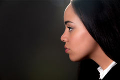 Profile portrait of beautiful young lady Royalty Free Stock Photo