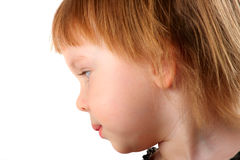 Profile portrait of beauty little girl Royalty Free Stock Image
