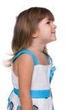 Profile portrait of a cute little girl Stock Photos
