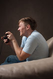 Profile portrait of a gamer Stock Photography