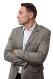 Profile portrait of handsome fashionable man Royalty Free Stock Images