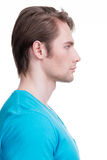 Profile portrait of handsome man. Royalty Free Stock Photography