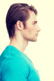 Profile portrait of handsome man. Royalty Free Stock Images