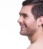 Profile portrait of handsome young man. Stock Images