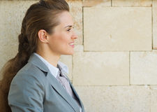 Profile portrait of happy business woman Stock Photography