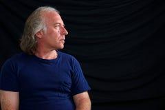 Profile portrait of older man Royalty Free Stock Photo