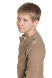 Profile portrait of a preteen boy Stock Photo