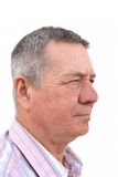 Profile Portrait of Senior man Stock Image