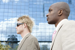 Profile Portrait of Two Royalty Free Stock Photography