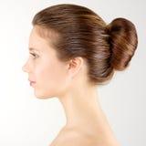 Profile portrait woman Stock Photos