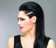 Profile portrait of a woman with fashion makeup Royalty Free Stock Photography