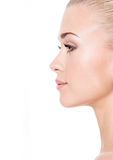 Profile portrait of  young blond woman Royalty Free Stock Photography