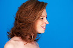 Profile Pretty Redhead Woman Stock Photography