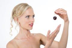 Profile of pretty woman Stock Photos